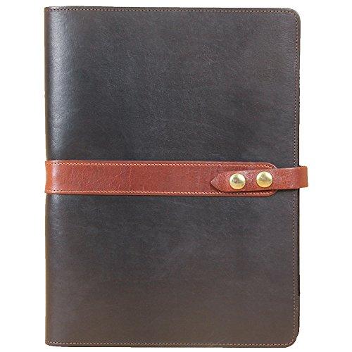 Col. Littleton Full-Grain Leather No.18 Portfolio/Padfolio | Black/Brown