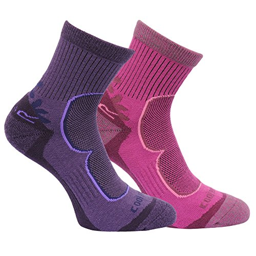 Regatta Great Outdoors Damen Wander-Socken, 2er-Pack (39-41 EU) (Brombeere/Viola)