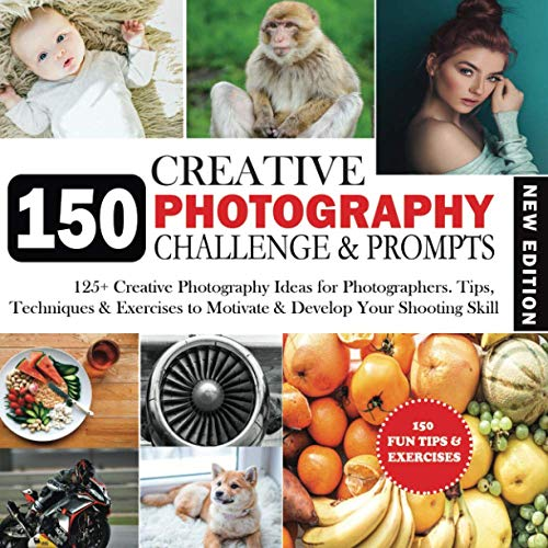 150 Photography Challenge & Prompts: 150 Creative Photography Exercises, Assignments & Ideas for Photographers. Tips, Tricks & Techniques to Inspire, ... Settings, Notes & Photo holder Section.
