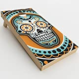 itsaskin Skin Decal Vinyl Wrap for Cornhole Game Board Bag Toss (2xpcs.) Skins Stickers Cover/Sugar Skull, Day of The Dead