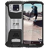 OUKITEL WP6 Télephone Portable Incassable Debloqué IP68, Écran 6.3' FHD+ (Gorilla Glass),Batterie 10000 mAh Rugged Smartphone Antichoc Etanche,6GO+128GO Android 9.0 Dual 4G,Caméras Triple 48MP (Noir)
