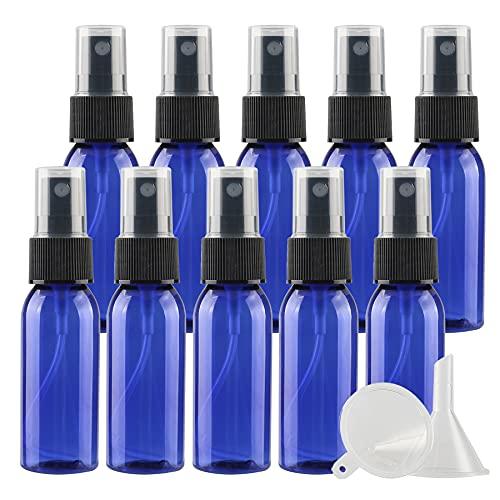 TIANZD 24 Pièces PortableVide30 MLVaporisateur Flacon Pastique Bleu Bouteille avec Pompe Noire pour l'eau l'alcool Parfum Cosmétique VoyageRechargeable