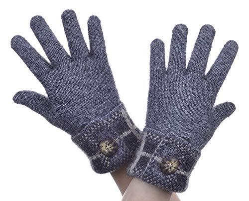 ポッサムメリノシルク・タータン手袋・マクドナルド ニュージーランド (S, ピューター)