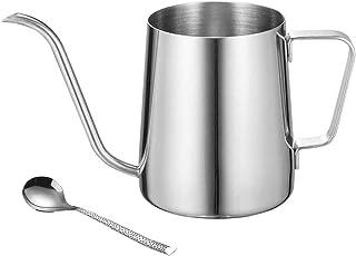 ーヒーポット お茶などにも対応 クッキング用品 細口ポット ステンレス製 350ML (B)