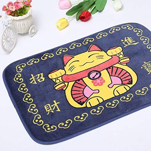 Carpet ZQE-LP Bathroom Kitchen Mat Cartoon Floor Mat Door Coral Fleece Non-Slip Mat, C, 20X28In