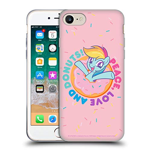 Head Case Designs Officially Licensed My Little Pony Rainbow Dash Candy Clash Soft Gel Case Compatible with Apple iPhone 7 / iPhone 8 / iPhone SE 2020