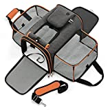 Lesure TSA Airline Approved Dog Carrier - Expandable Large Cat Carrier, Travel Pet Carriers for...