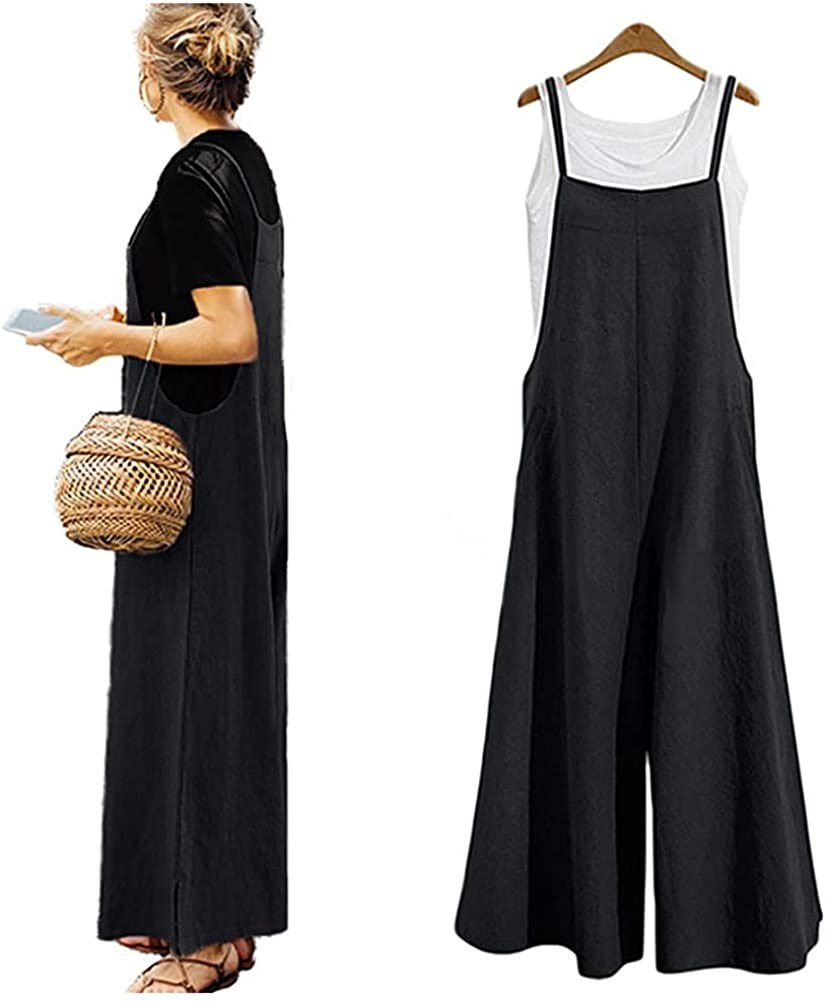 Women's Jumpsuits Casual Long Rompers Bibs Max 40% OFF Wide Overal Baggy Max 70% OFF Leg