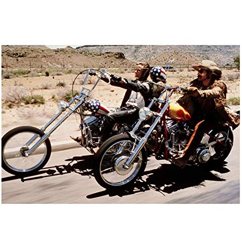 A&D Peter Fonda Kult-Szene mit Dennis Hopper Reiten Bikes Easy Rider Poster Dekorativ -60x90cmx1pcs- Kein Rahmen