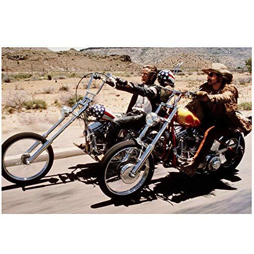 Peter Fonda icónica escena con Dennis Hopper Bicicletas para montar Easy Rider Poster Decorativo -60x90cmx1pcs- Sin marco