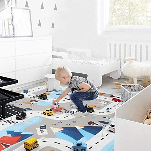 Alfombra Acolchada Infantil niño Plegable-Alfombra de Juegos para Bebes y niños con Circuito de Coches-Colchoneta Espuma Ideal para Habitaciones o como Suelo de Parque Infantil de 200 x 150 cm