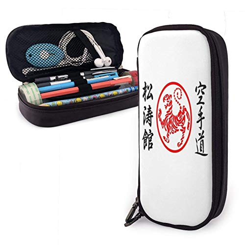 XCNGG Ship Pu Leather Pencil Case with Zipper Closure Big Capacity Carrying Case for School Office