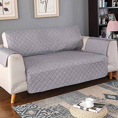 CHLIGHT Cojín del sofá de la Cubierta del Asiento del sofá Super Suave,Protector de sofá, de Funda de sofá para Mascotas/Perros, Funda de Muebles Antideslizante para sofá-Grey_3 plazas (190x196cm)