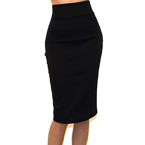 271cf3044 Vivicastle Women's USA High Waist Band Bodycon Career Office Midi Pencil  Skirt