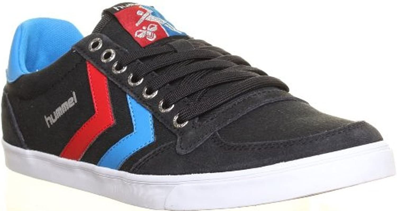 SV - Hummel Slimmer Stadil Low Mens Canvas Trainers Lace Up Running - Black bluee