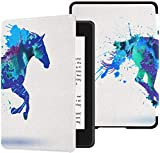 Water-Safe Case for All-New Kindle Paperwhite (10th Generation-2018 Only - Will Not Fit Prior Generation Kindle Devices) Sign Silhouette Horse Splash