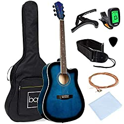 top 10 rogue guitar company 41-inch wooden acoustic guitar for beginners with best choice product case, strap, …