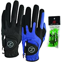 2-Pack Zero Friction Men's Compression-Fit Synthetic Golf Glove
