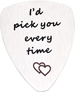 O.RIYA I'd Pick You Every Time Guitar Pick, Musical Gift, Anniversary Day, Unisex Gift, Music, Father's Day, Valentine's Day, Men, Gift for Him