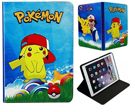 pour Nouvel Apple iPad Pro 24,6cm 2017/iPad 9.7et iPad Air 1–2Pokémon Pikachu Coque avec Support