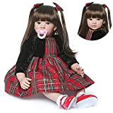 Muñecas Reborn Silicona Vinilo 24 Pulgadas 60 cm Juguetes Anatómicamente Correctos para Bebés Recién...