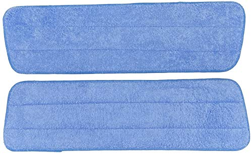 SPS Microfiber Spray Mop Replacement Heads Floor Cleaning Pads Head Fit Commercial Heavy Duty Dry Wet Mops Washable