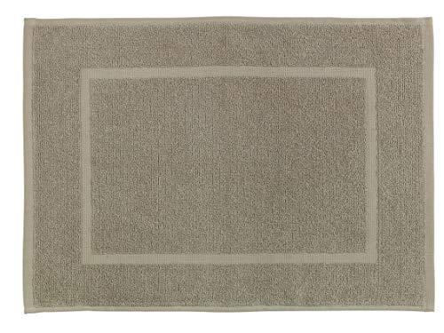 Allstar Tapis de bain Zen taupe - Tapis de douche, Coton, 40 x 60 cm, Taupe