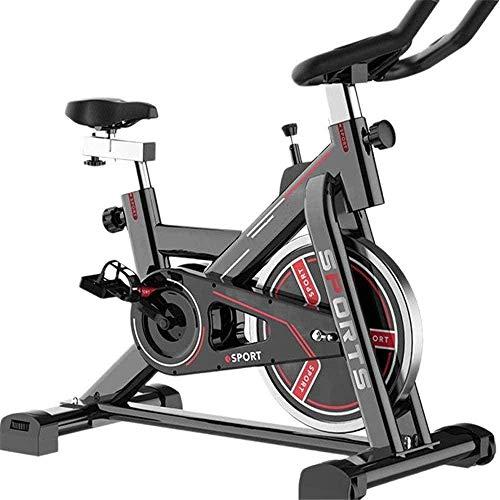 Bicicleta de spinning para el hogar, para hacer ejercicio, para interiores, gimnasio, aeróbico, para interiores, ejercicios, 1100 – 1200 x 500 x 1060 mm, color rojo