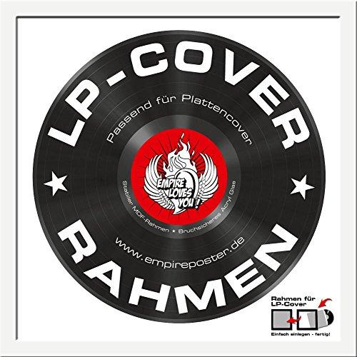 LP Schallplatten-Cover Rahmen - LP Rahmen Qualitäts-Wechselrahmen der Marke Empire® Frames Profil 15mm Kunststoff weiß Acrylglas-Scheibe - Außengröße 34,5x34,5 cm