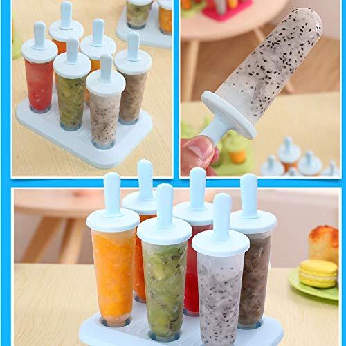 Molde para helado de paletas, 6 unidades de moldes para paletas de ...