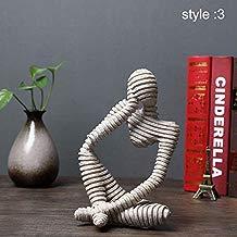 Symboat Statues Escultura Ornamentos Decorativos de Figure Abstracta de gres para el Escritorio de salón