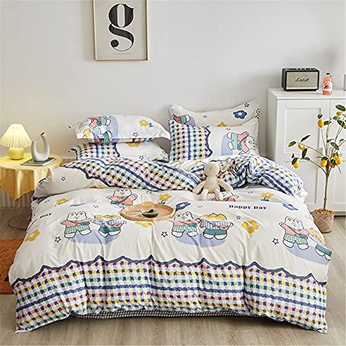 Ropa De Cama, Textiles para El Hogar, Funda Nórdica Cómoda Y Suave, Juego De 4 Piezas Fácil De Limpiar 200x230cm