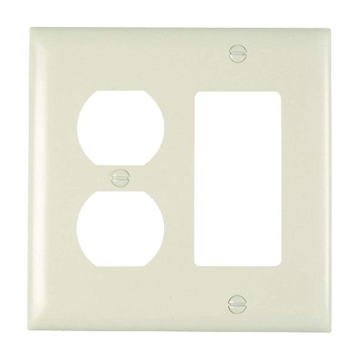 雇用拒絶制限する(Two Gang / 1-Pack, Duplex and Decorator, Light Almond) - Pass & Seymour TP826LACC12 Trade Master Nylon Wall Plate with On...