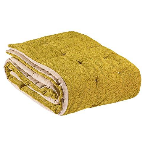 Vivaraise - Edredon - Edredon hiver - Edredon épais et chaud - Couverture - Edredon de couette - Enveloppe 100% Coton Garnissage Polyester - Badiane Vert