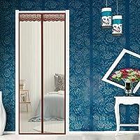 マグネット式網戸 70x220cm 蚊取り,マグネット式,自動で閉まる マグネットスクリーンドア 耐久性・通気性 湿気対策 リビングルームに適用します,ベッドルーム, ブラウン A