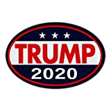 Oval Shaped Magnet - Donald Trump for President 2020 - Republican Party Magnetic Bumper Sticker - 6' x 4'