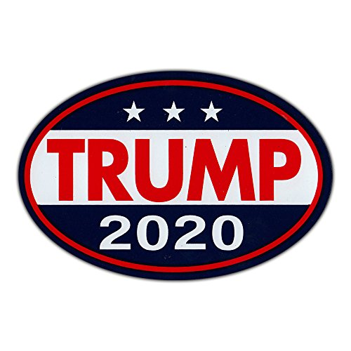 Oval Shaped Magnet - Donald Trump for President 2020 - Republican Party Magnetic Bumper Sticker - 6