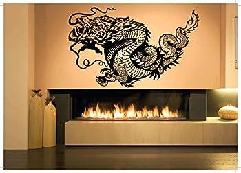Wall Room Decor Art Vinyl Sticker Mural Decal Asian Dragon Tattoo Large AS1261