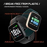 Crossbeats Ignite Smart Watch 1.4'' Full Touch Men Women Fitness Tracker Blood Pressure Blood Oxygen Heart Rate Monitor Waterproof Exercise Smartwatch for iPhone Samsung Android (Carbon Black)
