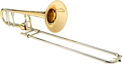 S.E. SHIRES TBQ30YA Q-Series Axial F-Attachment Trombone Lacquer Gold Brass Bell
