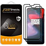 (2 Pack) Supershieldz for OnePlus 6 Tempered Glass Screen Protector, (Full Screen Coverage) 0.28mm, Anti Scratch, Bubble Free (Black)