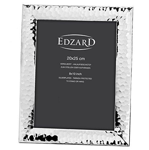 EDZARD Fotorahmen Gubbio für Foto 20 x 25 cm, edel versilbert, anlaufgeschützt