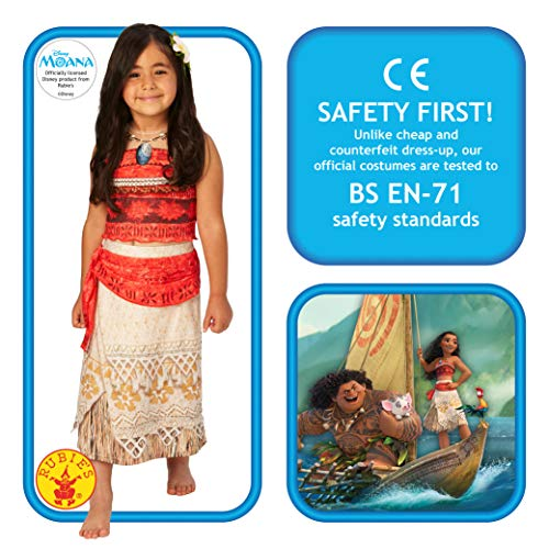 Rubie's Official Disney Moana Childs Deluxe Costume Medium (5-6 years)