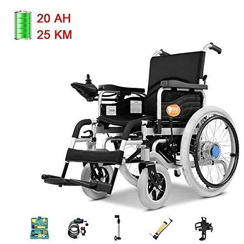 Faltbarer Elektrorollstuhl Dual-Modus, kompakte Mobilitätshilfe Motorisierter Rollstuhl Vollautomatischer Multifunktionsroller for behinderte ältere Menschen elektrische Rollstühle