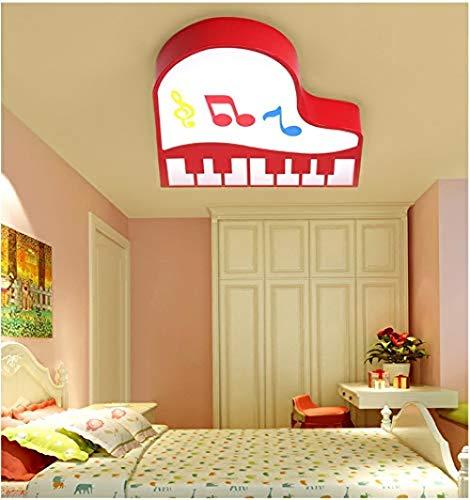 LED Deckenleuchte rot Klavier Form Deckenleuchte warmes Licht Schlafzimmer Studie Wohnzimmer Beleuchtung