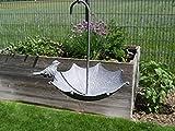 me Vogeltränke Schirm Vogelbad Tränke Gartendeko Metall Shabby Vintage