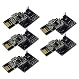 Aideepen 5PCS NRF24L01 Wireless Transceiver Module with NRF24L01 Socket Breakout Adapter 8 Pin Plate Board Compatible with Arduino
