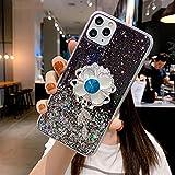 KESHOUJI Support de Fleur de Soleil Diamant Support étui de téléphone Souple pour iphone 11 Pro...