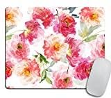 Watercolor Mousepad Floral Mouse pad Rectangle Mouse pad Beautiful Design Floral Mouse pad