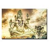 wZUN Carteles e Impresiones de Lord Shiva, Gran Imagen clásica de la religión hindú del Dios hindú para la decoración del Arte de la Pared de la Sala de Estar 50x70cm